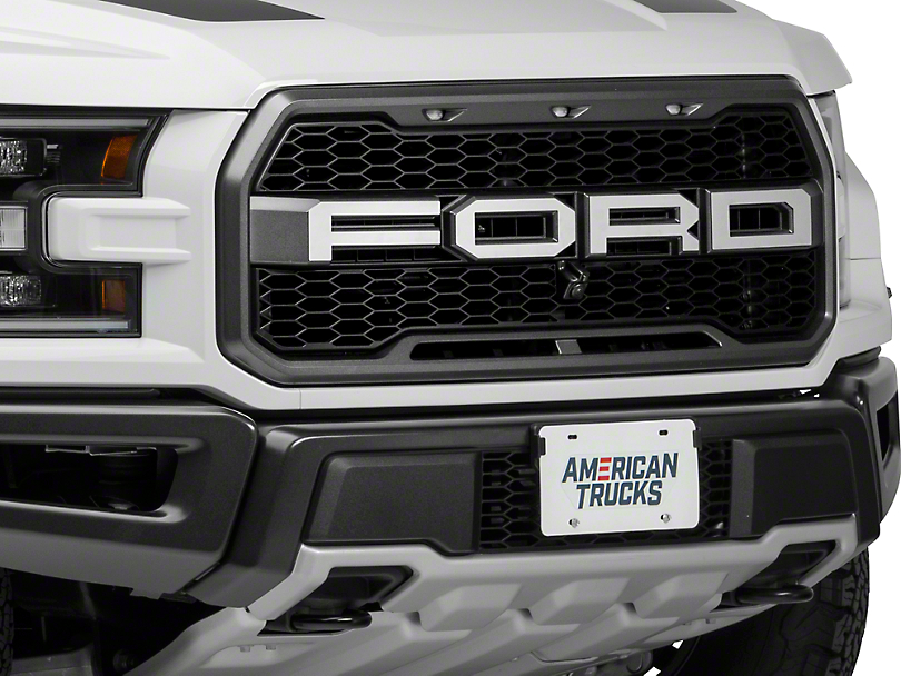 ACC Brushed F-O-R-D Grille Letters (17-18 F-150 Raptor)