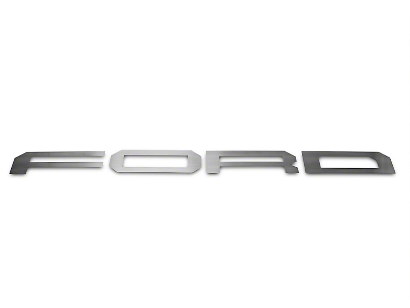 ACC Brushed F-O-R-D Tailgate Letters (17-18 F-150 Raptor w/ Tailgate Applique)