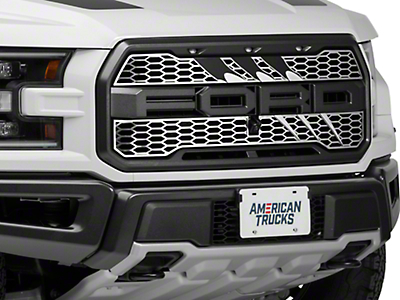 ACC Slash Style Upper Grille Overlay - Polished (17-18 Raptor)