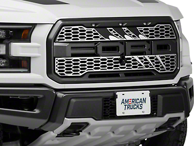ACC Slash Style Upper Grille Overlay - Brushed (2017 Raptor)