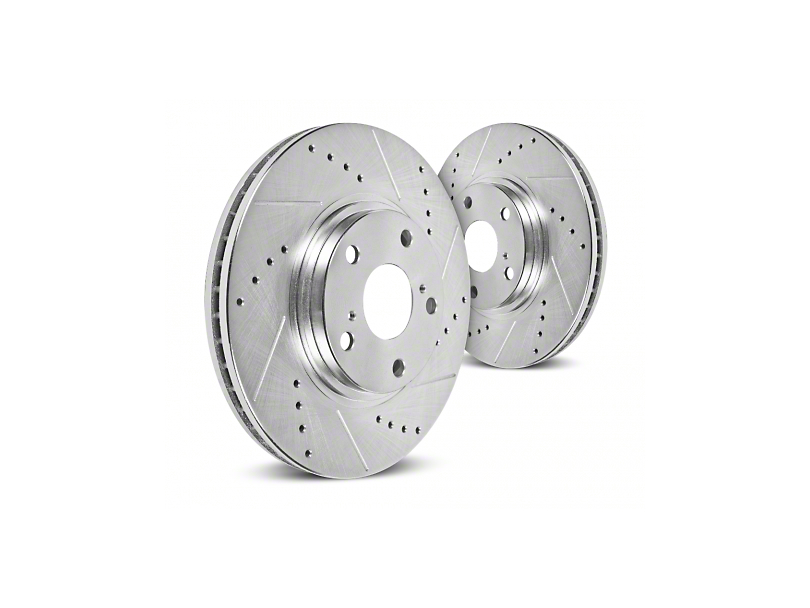 Hawk Performance Sector 27 Drilled & Slotted 5-Lug Rotors - Rear Pair (99-03 w/ Rear Disc Brakes)