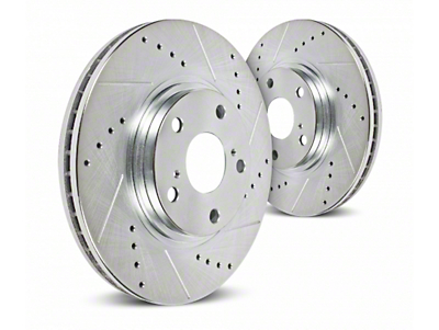 Hawk Performance Sector 27 Drilled & Slotted Rotors - Front Pair (12/99-03 Lightning)
