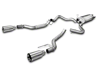 Corsa 3 in. Sport Cat-Back Exhaust w/ Satin Polished Tips - Split Rear Exit (2017 Raptor)