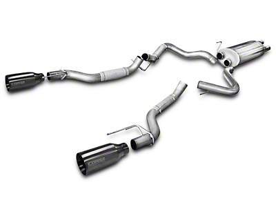 Corsa 3 in. Sport Cat-Back Exhaust w/ Gunmetal Tips - Split Rear Exit (2017 Raptor)