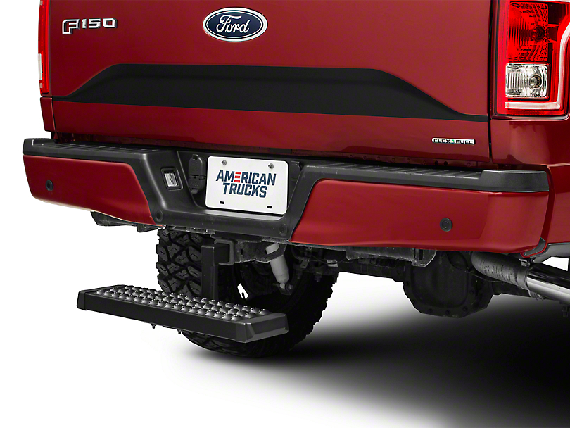 RedRock 4x4 Aluminum 6 in. Drop Hitch Step for 2 in. Receiver - Black (97-18 F-150)