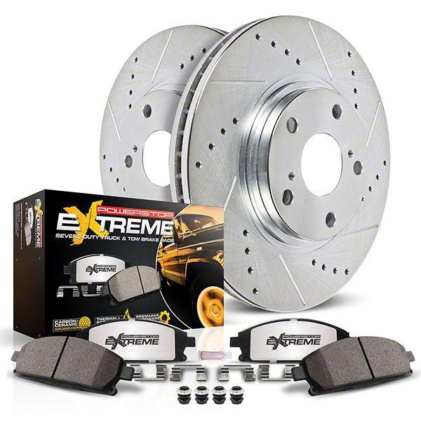 Power Stop Z36 Extreme Truck & Tow 6-Lug Brake Pad & Rotor Kit - Rear (12-14 2WD/4WD F-150; 15-19 F-150 w/ Manual Parking Brake)