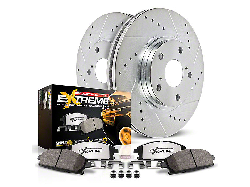 Power Stop Z36 Extreme Truck & Tow 6-Lug Brake Pad & Rotor Kit - Rear (04-17 2WD/4WD)