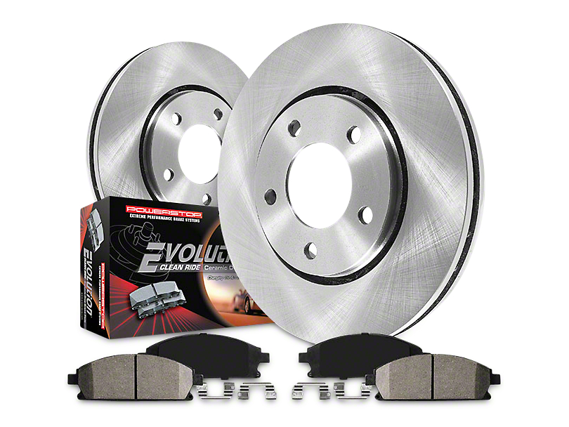 Power Stop OE Replacement 6-Lug Brake Rotor & Pad Kit - Front & Rear (09-18 2WD/4WD)