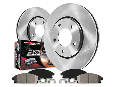 Power Stop OE Replacement 6-Lug Brake Rotor & Pad Kit - Front & Rear (10-11 2WD/4WD)