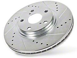 Power Stop Evolution Cross-Drilled & Slotted 5-Lug Rotors; Front Pair (Late 00-03 2WD F-150, Excluding Lightning)