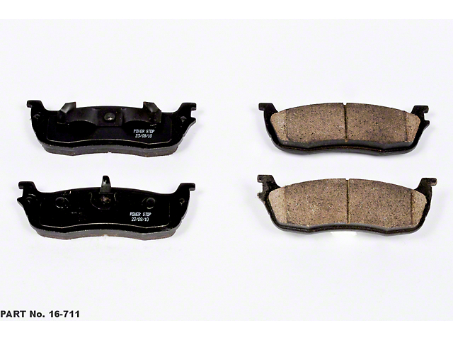 Power Stop Z16 Evolution Clean Ride Ceramic Brake Pads - Rear Pair (99-03 F-150 Lightning; Late 00-03 F-150 5 or 7-Lug w/ Rear Disc Brakes)