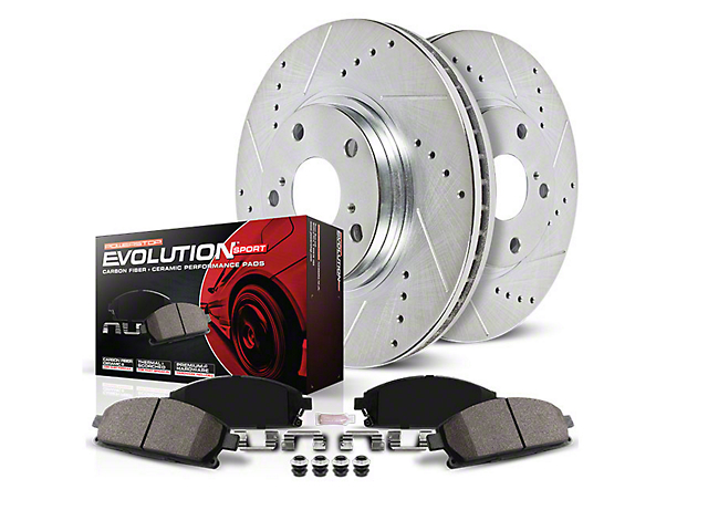 Power Stop Z23 Evolution Sport Brake Rotor & Pad Kit - Front & Rear (Late 00-03 Lightning)