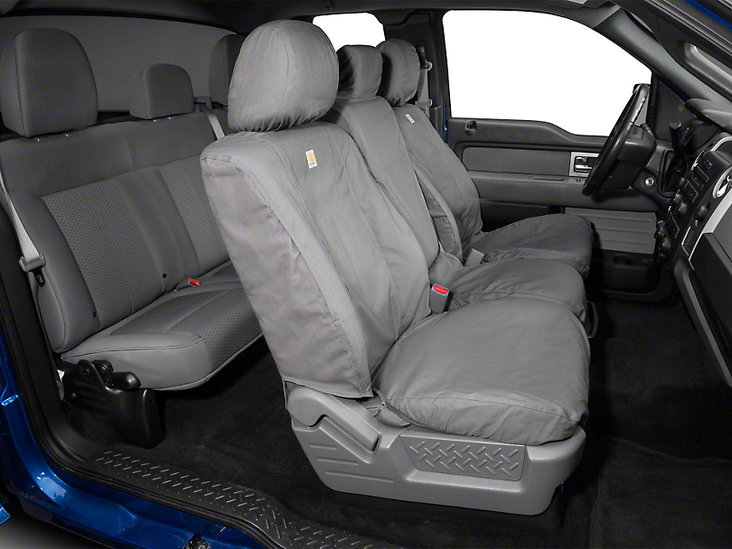 Covercraft Carhartt SeatSaver Front Seat Cover - Gravel (11-14 F-150 w/ Bench Seat)