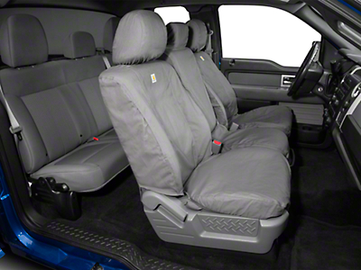 Covercraft Carhartt Seat Saver Front Seat Cover - Gravel (11-14 w/ Bench Seat)