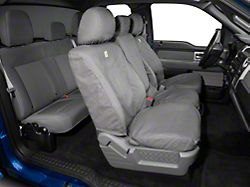 Covercraft Carhartt SeatSaver Front Seat Cover; Gravel (11-14 F-150 w/ Bench Seat & Fold-Down Armrest with a Cupholder)
