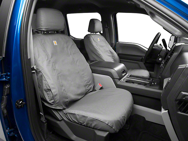 Covercraft Carhartt SeatSaver Front Seat Cover - Gravel (15-19 F-150 w/ Bench Seat)