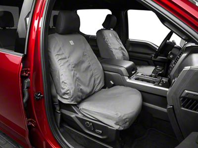 Covercraft Carhartt SeatSaver Front Seat Cover - Gravel (15-19 F-150 w/ Bucket Seats, Excluding Raptor)