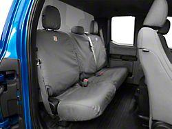 Covercraft Carhartt SeatSaver 2nd Row Seat Cover - Gravel (15-19 F-150 SuperCrew w/o Fold-Down Armrest)
