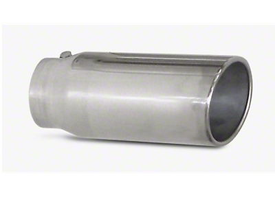 Pypes 5 in. Rolled Angled Cut Exhaust Tip - Polished Stainless - 3.0 in. Connection (97-17 All)