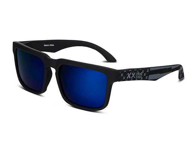RTR VGRJ Signature Sunglasses - Black/Blue Flag