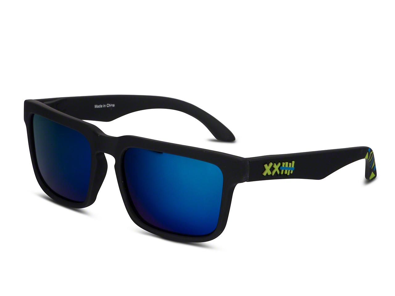 RTR VGRJ Signature Sunglasses - Black/Blue Triangles