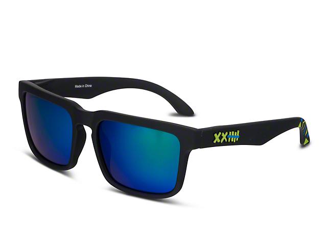 RTR VGRJ Signature Sunglasses - Black/Green Triangles