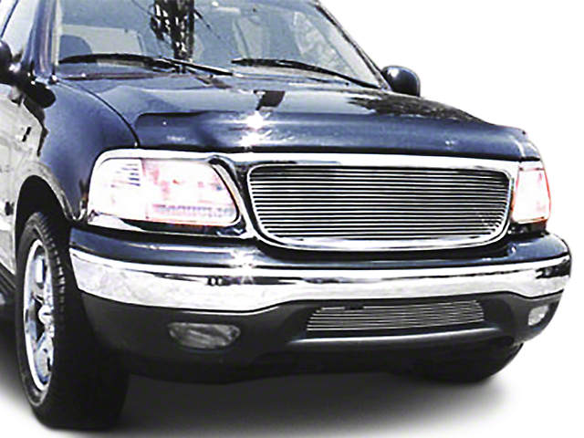 T-REX Billet Upper Overlay Grille - Polished (99-03 w/ OE Honeycomb Style Grille)