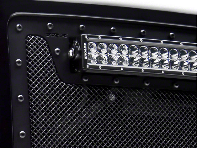 T-REX Stealth Metal Series Upper Replacement Grille w/ Two 12 in. LED Light Bars - Black (10-14 Raptor)
