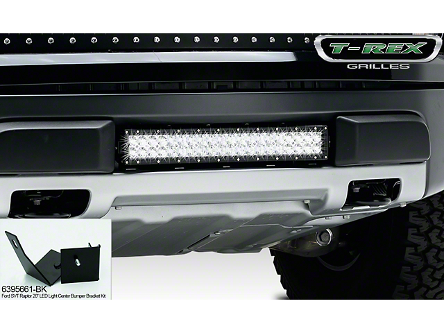 T-REX Torch Series 20 in. LED Light Bar Center Bumper Mounting Brackets (10-14 F-150 Raptor)