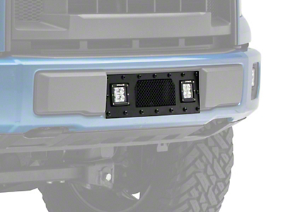 T-REX Torch Series Lower Bumper Grille Insert w/ Two 3 in. LED Cube Lights - Black (15-17 2.7L/3.5L EcoBoost, Excluding Raptor)