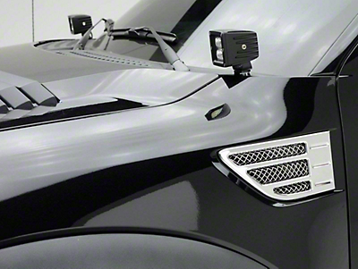 T-REX Torch Series Side Hood Mounting Brackets w/ Two 3 in. LED Cube Lights (10-14 F-150 Raptor)