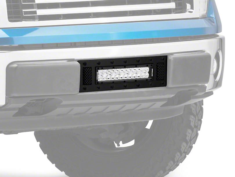 T-REX Torch Series Upper Grille Insert w/ 12 in. LED Light Bar - Black (09-14 All, Excluding Raptor)