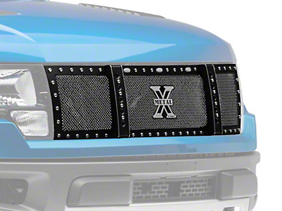 T-REX X-Metal Series Upper Replacement Grille w/ Baja Bars - Black (10-14 Raptor)