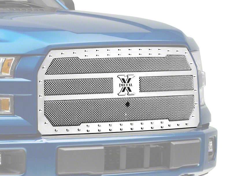 T-REX X-Metal Series Upper Replacement Grille - Polished (15-17 All, Excluding Raptor)