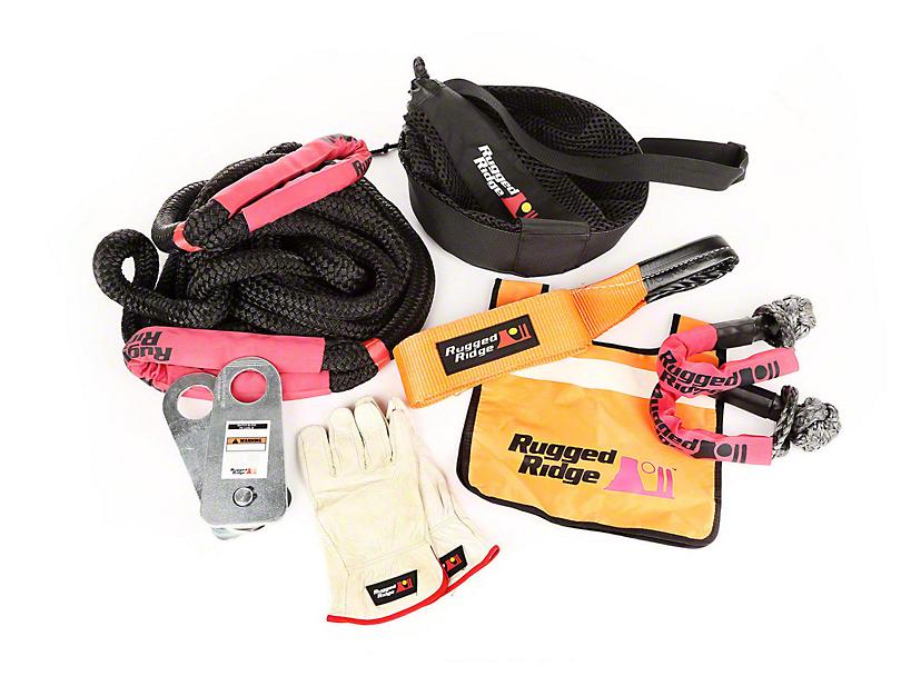 Rugged Ridge Premium Recovery Kit w/ Mesh Bag