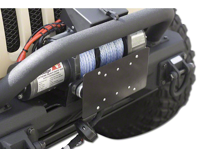 Rugged Ridge License Plate Mounting Bracket for Hawse Fairlead (97-18 F-150)