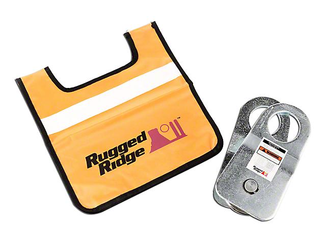 Rugged Ridge Snatch Block Pulley w/ Damper - 20,000 lb. Limit (97-18 All)