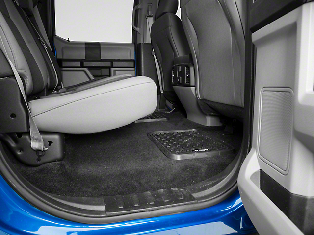 Rugged Ridge Rear Floor Liners - Black (97-18 SuperCab, SuperCrew)