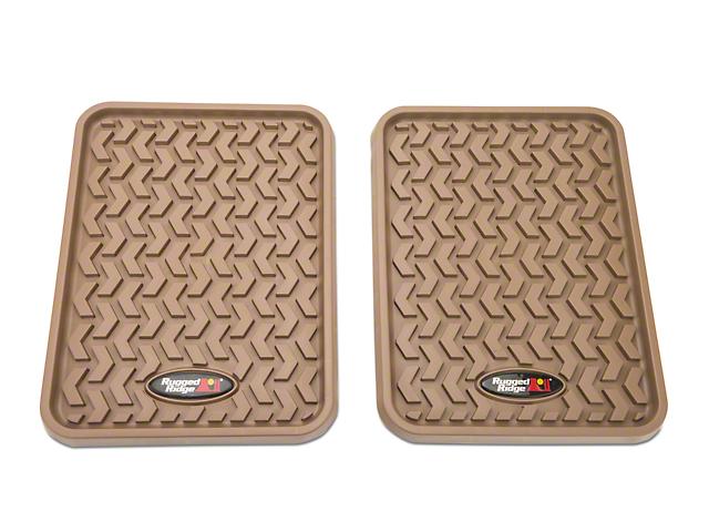 Rugged Ridge Rear Floor Liners - Tan (97-18 SuperCab, SuperCrew)