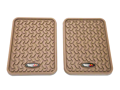 Rugged Ridge Rear Floor Liners - Tan (97-18 SuperCab, SuperCrew)