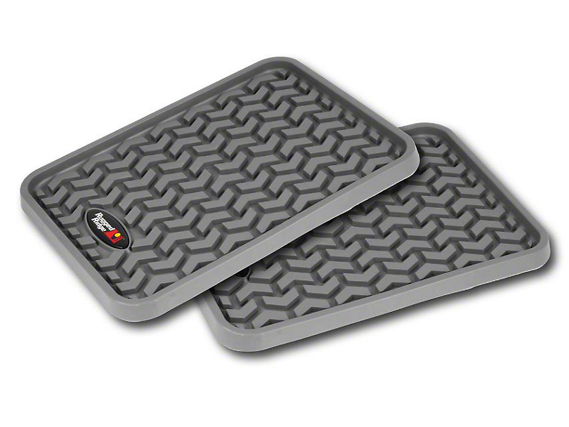 Rugged Ridge Rear Floor Liners - Gray (97-18 F-150 SuperCab, SuperCrew)