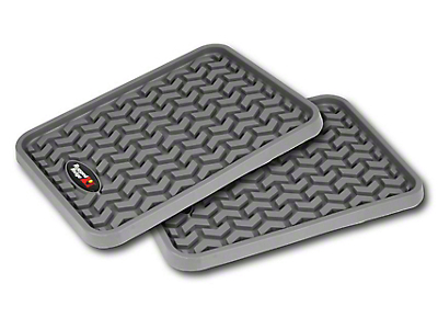Rugged Ridge Rear Floor Liners - Gray (97-18 SuperCab, SuperCrew)