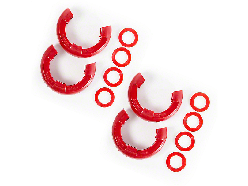 Rugged Ridge 7/8 in. Red D-Ring Isolators - Set of Four