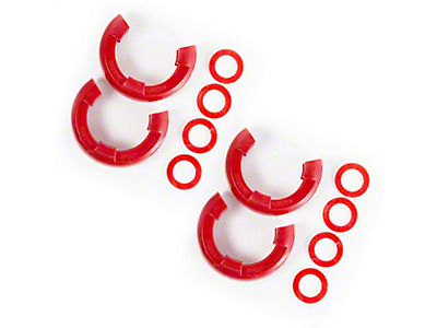 Rugged Ridge 7/8 in. Red D-Ring Isolators - Set of Four (97-18 All)