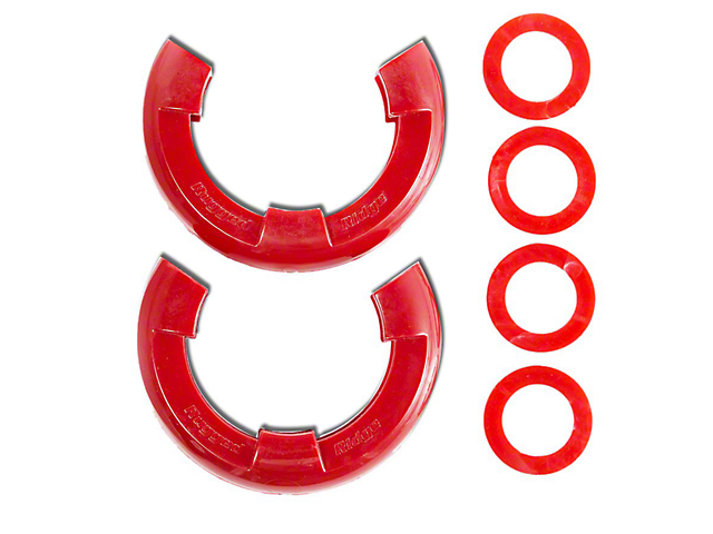 Rugged Ridge 7/8 in. Red D-Shackle Isolators - Pair (97-18 All)