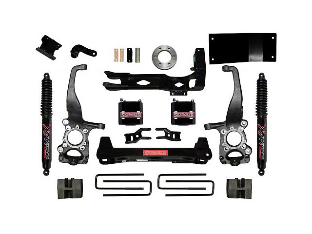 SkyJacker 6 in. Front Spacer Suspension Lift Kit w/ Shocks (15-19 4WD F-150, Excluding Raptor)