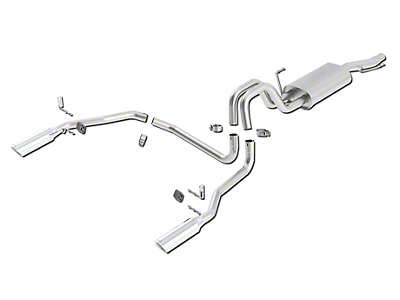 Borla Touring Dual Exhaust System - Rear Exit (04-08 4.6L)
