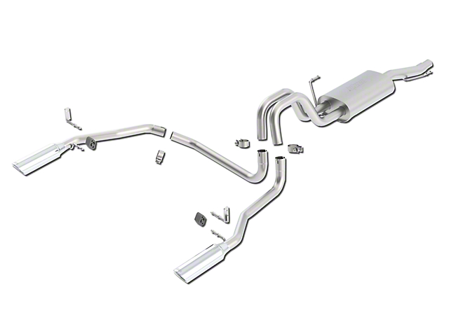 Borla Touring Dual Exhaust System - Rear Exit (04-08 5.4L F-150)