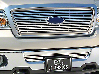 Q Upper Overlay Grille - Polished (04-08 F-150 XL, XLT, Lariat)