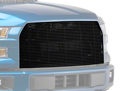 E&G Billet Style Upper Replacement Grille - Black (15-17 All, Excluding Raptor)